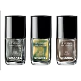 Chanel Le Vernis in Graphite, Peridot and Quartz, $39 each