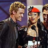 In July 2002, Alicia Keys joined Justin Timberlake and the guys of *NSYNC to present an award at the American Music Awards.
