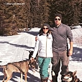 Channing Tatum and Jenna Dewan celebrated in the snow with their pups.