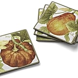 Williams Sonoma Botanical Pumpkin Coasters