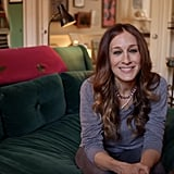 Throughout the house, the actress uses vibrant colors as seen in the green walls and couch, with a pop of contrasting color, such as the pink throw on the back of the sofa. The room features reading lights and a minibar and even has pocket doors to the adjoining room, perfect for blocking out noise.