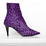 Excess Pony Ankle Boot in Purple Leopard Photo courtesy of Tamara Mellon