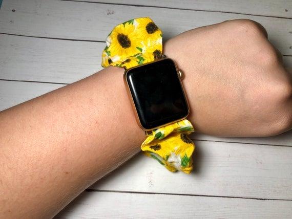 Sunflower Scrunchie Watch Band