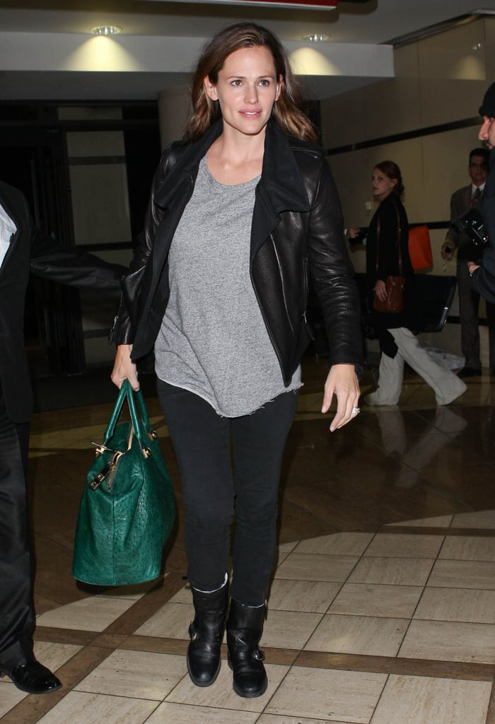 Jennifer Garner arrived at LAX.
