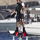 Leonardo DiCaprio tried his hand at Flyboarding on Tuesday in Ibiza.