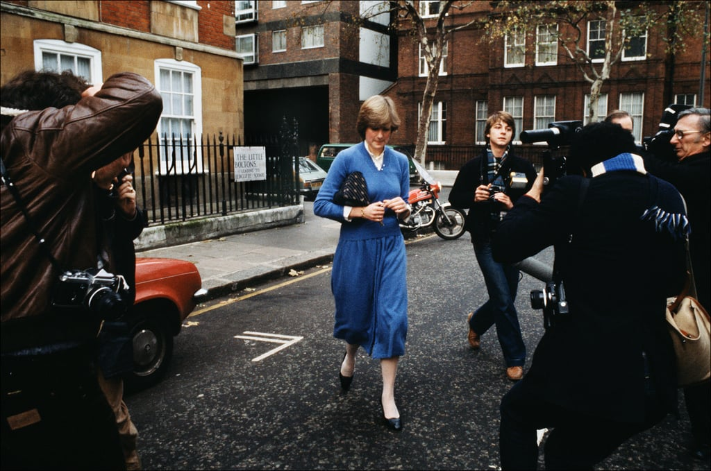 Princess Diana's White Collared Shirt and Blue Sweater