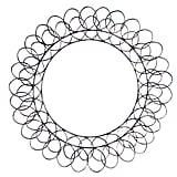 Rustic Metal Vintage Spiral Wreath