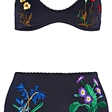We can image ourselves lounging around in this Stella McCartney Embroidered Bikini ($370).