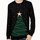 American Rag Men's LED Tree Fleece Sweater