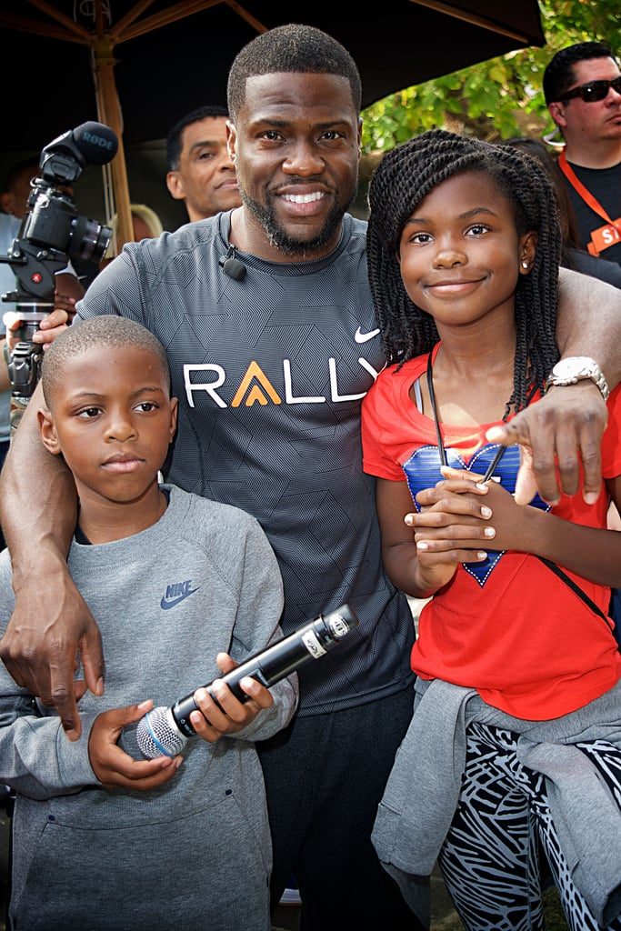 In addition to being incredibly funny and one hell of dancer, Kevin Hart is a doting father to two ridiculously cute kids, daughter Heaven and son Hendrix, whom he shares with ex-wife Torrei Hart. Luckily for us, the comedian often takes to Instagram to share photos from their fun adventures and family vacations, and every once in a while, the brood can be found sitting courtside at a Clippers game. We've rounded up the family's cutest moments together — keep reading to see them.      Related:                                                                Kevin Hart's Blended Family Is Front and Center at His Hollywood Walk of Fame Ceremony                                                                   No Joke: Dwayne Johnson and Kevin Hart Have 1 of the Funniest Bromances in Hollywood