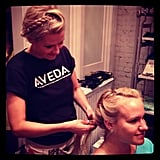 Madewell's SoHo store offered up free braid bar sessions — fun!