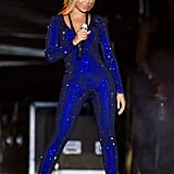 There's maybe nothing hotter than Beyoncé's glittering blue bodysuit.