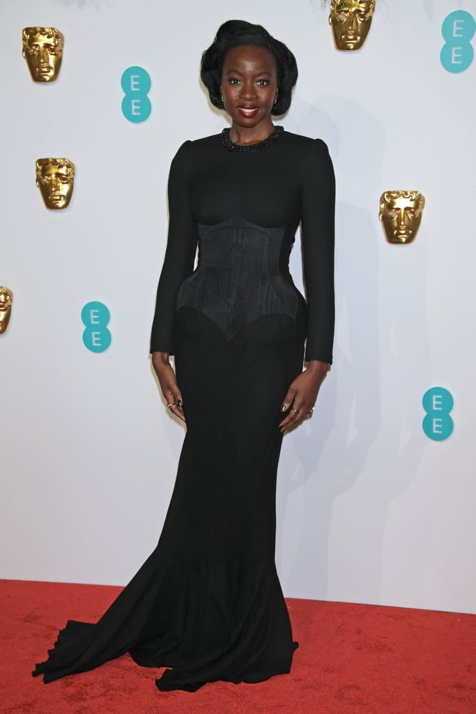 Danai Gurira at the 2019 BAFTA Awards