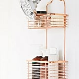 Minimal Rose Gold Shower Caddy
