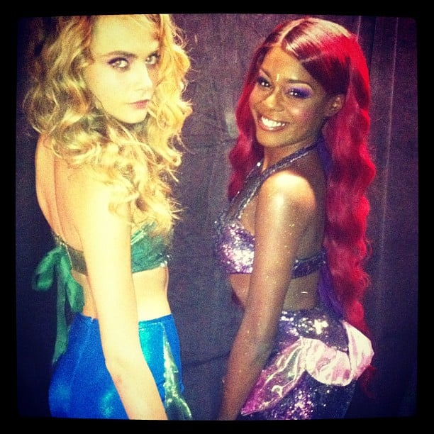 Cara Delevingne and Azealia Banks made like mermaids. Source: Instagram user azealiabanks