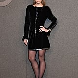 Lily-Rose Depp Exuded Confidence in Black Velvet