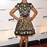 Zoe wore Louis Vuitton to the amfAR party.