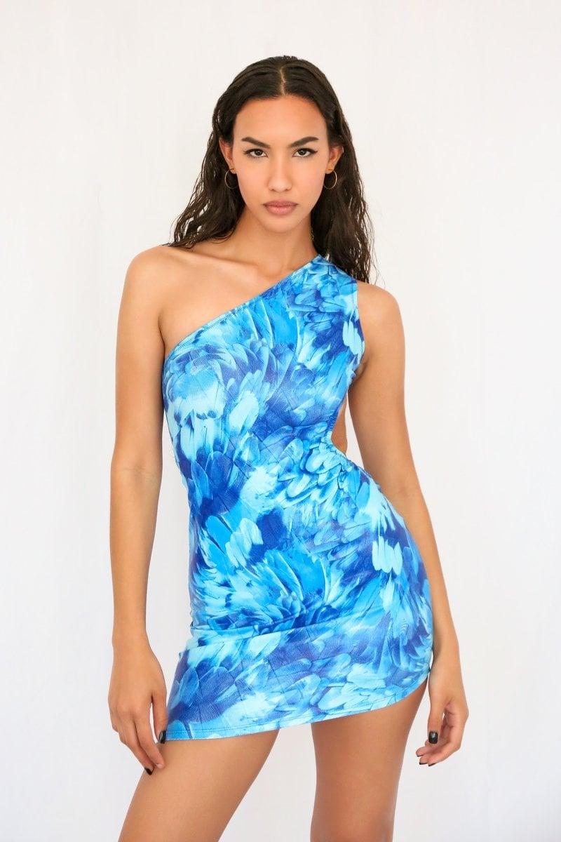 Melissa Simone Jasmine Glossed Ocean Blue Dress   Best Swimwear ...
