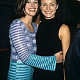 She flashed her pearly whites with Cameron Diaz at the premiere party for My Best Friend's Wedding in 1997.