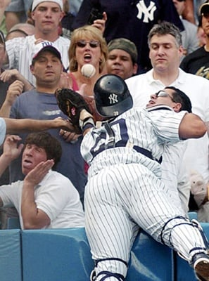 Scared Baseball Fan