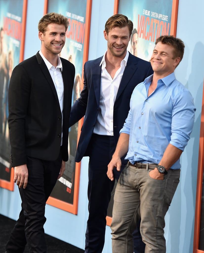 Liam, Chris, and Luke Hemsworth