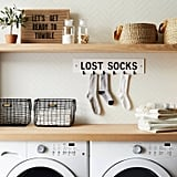 Wall Sign Lost Socks in White