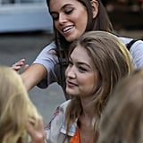 Gigi Prepping For the Ralph Lauren Runway With Kaia Gerber