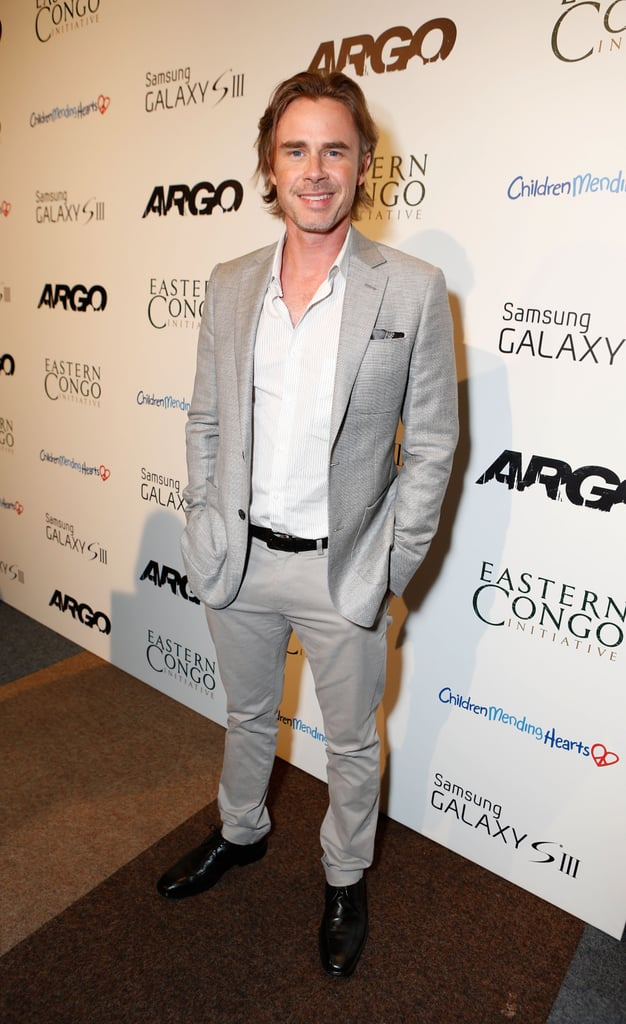 Sam Trammell stepped out for the screening.