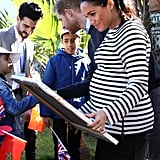 Meghan and Harry With Horses on Morocco Tour February 2019