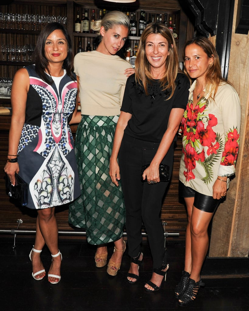 Roopal Patel, Erika Bearman, Nina Garcia, and Sara Beltran were all smiles at the Lyst launch party.