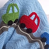 Puddin Toes Crochet Car Baby Blanket