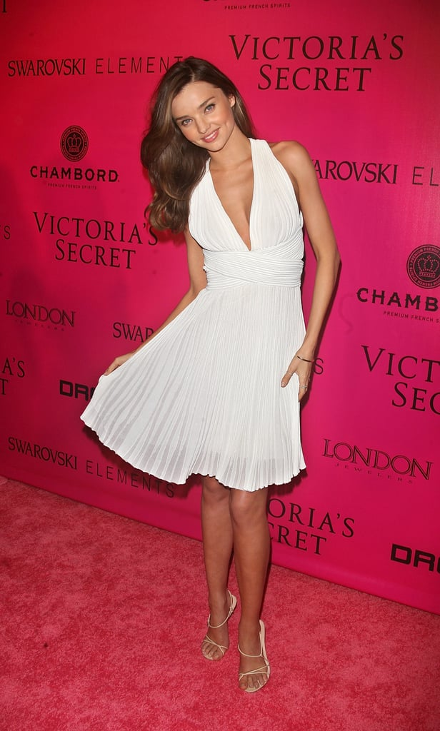 Miranda Kerr walked the pink carpet at the Victoria's Secret Fashion Show afterparty.