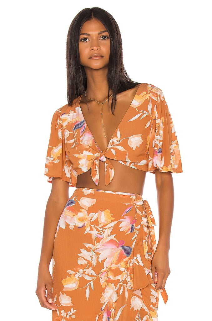 Song of Style Kaia Top in Rust Floral from Revolve.com