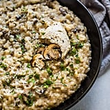 Mushroom Risotto with Truffle Mousse