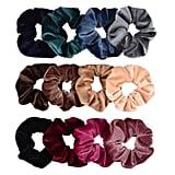 Whaline 12-Piece Hair Scrunchies Velvet Elastics