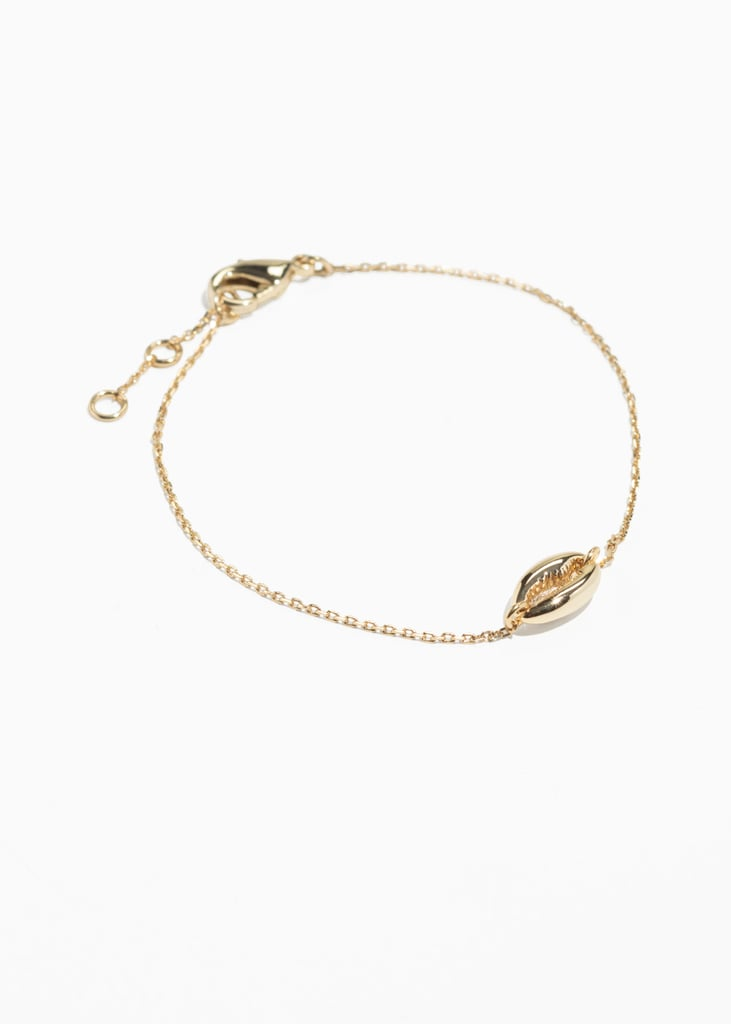 & Other Stories Puka Shell Chain Bracelet
