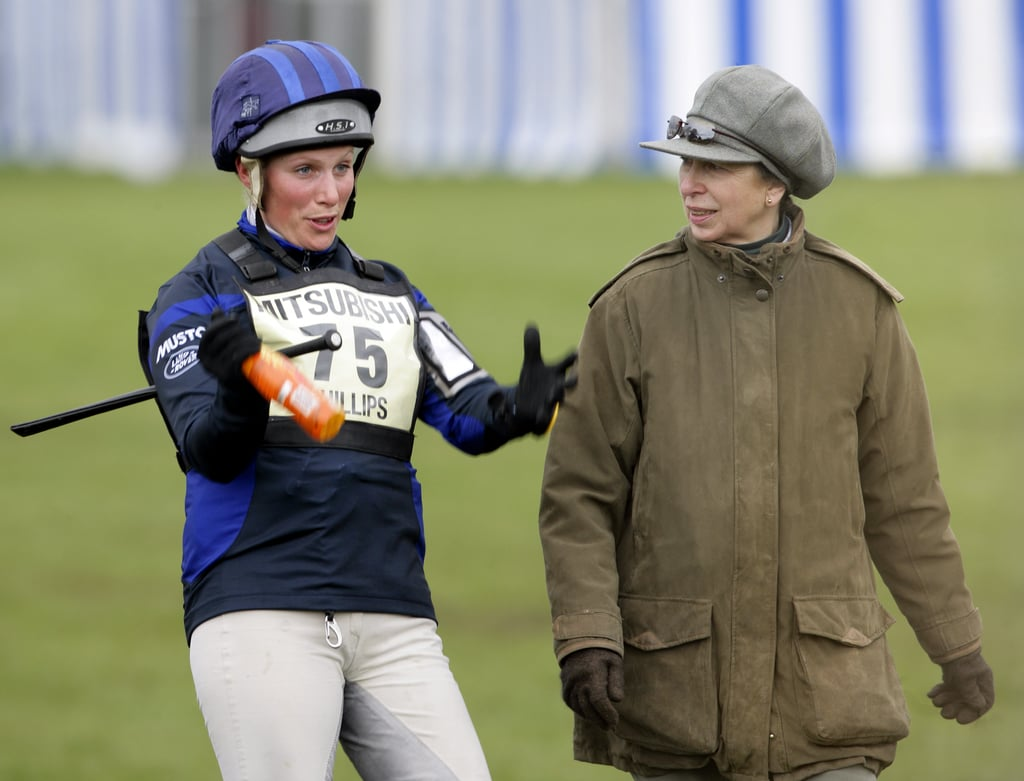 Zara Phillips and Princess Anne at the Badminton Horse Trials in 2010