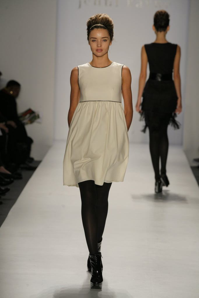 She wore a soft babydoll dress from the Jenni Kayne Fall 2007 collection.