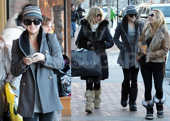 Photos of Kate Hudson With Goldie Hawn in Aspen and Ryder Skiing