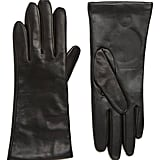 Nordstrom Cashmere Lined Leather Touchscreen Gloves