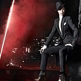 Tuxedo cool in Donna Karan.