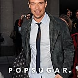 Josh Duhamel Breaks From a Busy Press Day to Sightsee in NYC