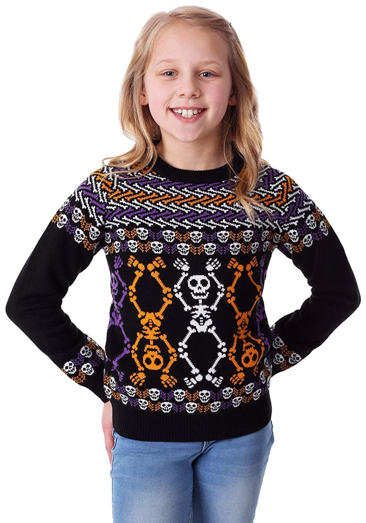 Fun Wear Day of The Dead Dancing Skeletons Child Halloween Sweater