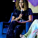 Michelle Obama's Blue Jumpsuit at Essence Festival 2019