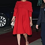 Meghan Markle Wearing a Valentino Dress in Morocco