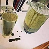 Ellie Goulding sipped on some homemade green smoothies.