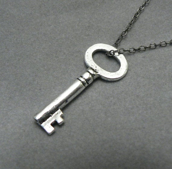 Mary Margaret Silver Key Necklace ($26)