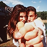 Sandra Bullock and Ben Affleck got goofy in front of the cameras while shooting Forces of Nature in 1999.
