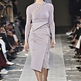 If Melania's in the market for a new military-inspired piece, we think she might try something in an unexpected color, and this artfully designed lavender pencil skirt fits the bill.