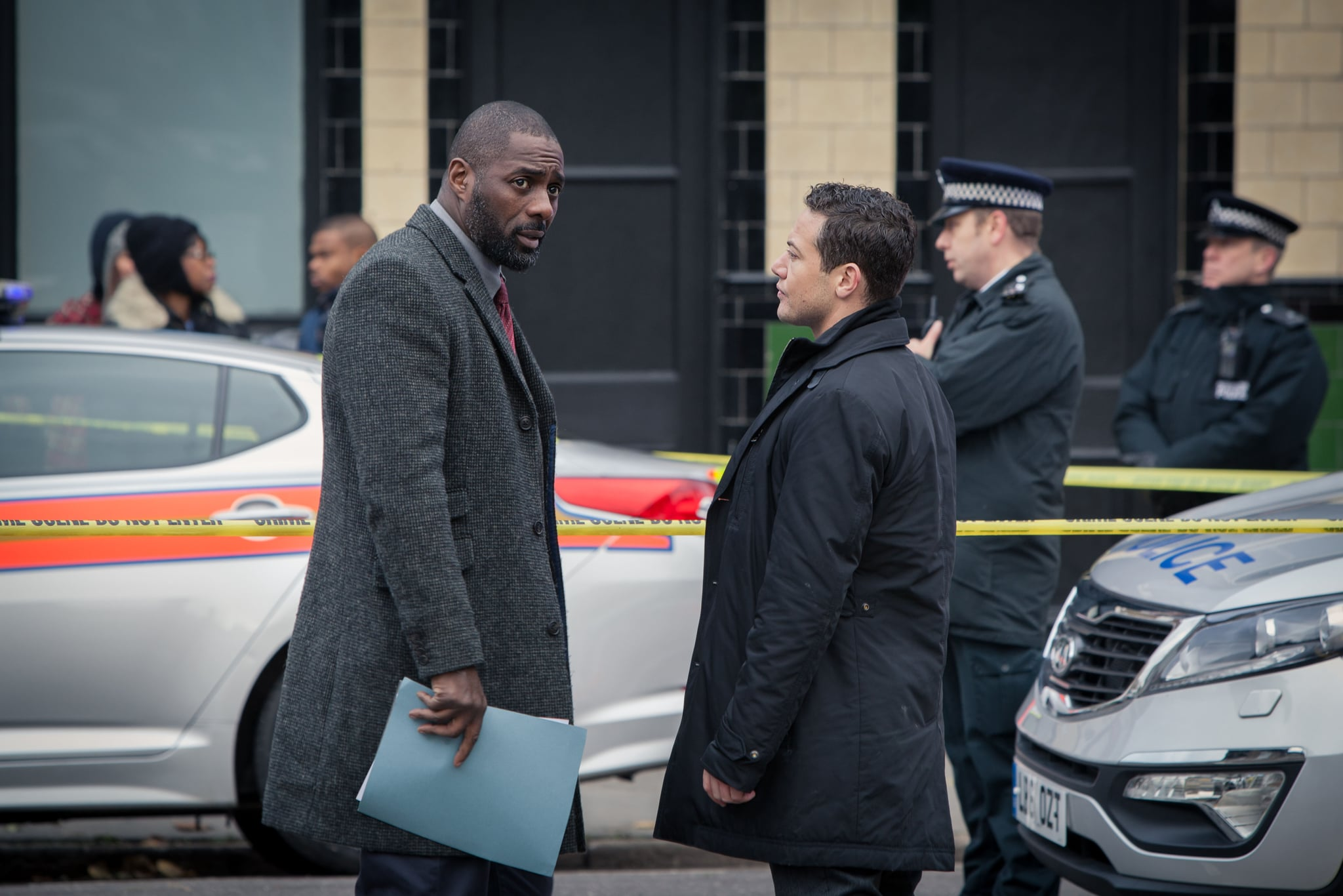 LUTHER, Idris Elba, Warren Brown, (Season 3, Episode 301, aired July 2, 2013), ph: Robert Viglasky / UKTV / courtesy Everett Collection